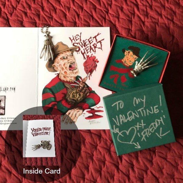 Robert Englund Valentines limited Edition Card Set