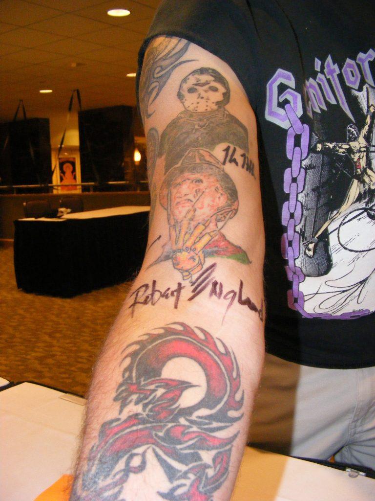 Robert Englund Tattoo Archive 325