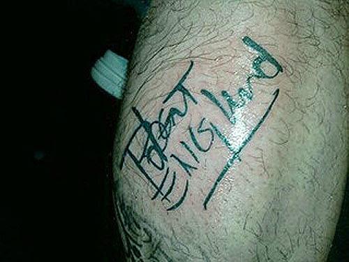 Robert Englund Tattoo Archive 420