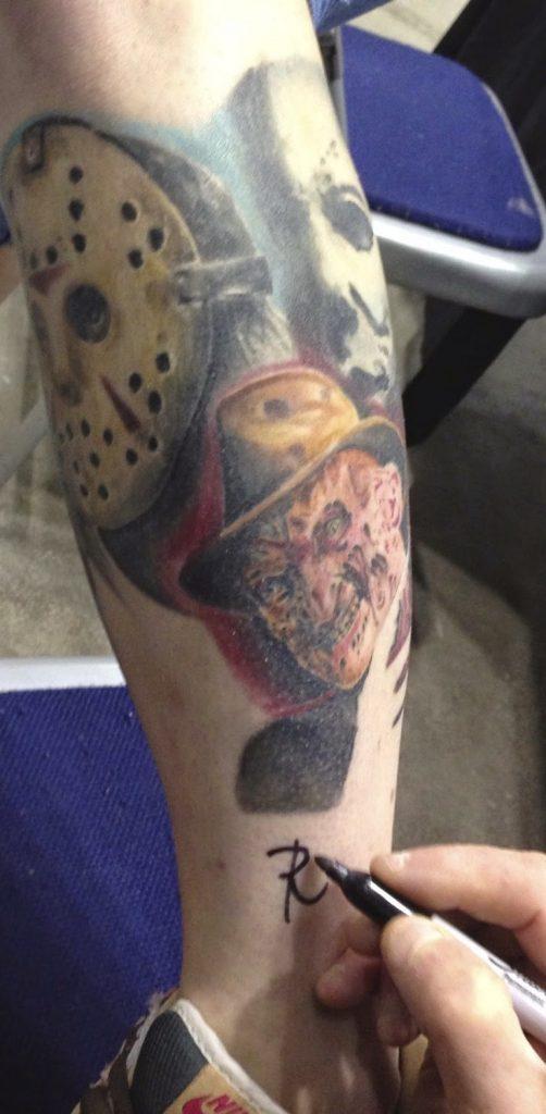 Robert Englund Tattoo Archive 467
