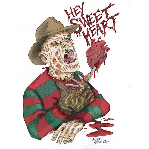 Robert Englund Valentines Limited Edition Card